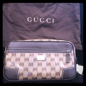 100% AUTH Gucci Crystall GG Belt Pocket Bag - Used